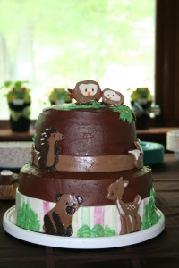 Baby Shower cake, Carter's Forest Friends theme