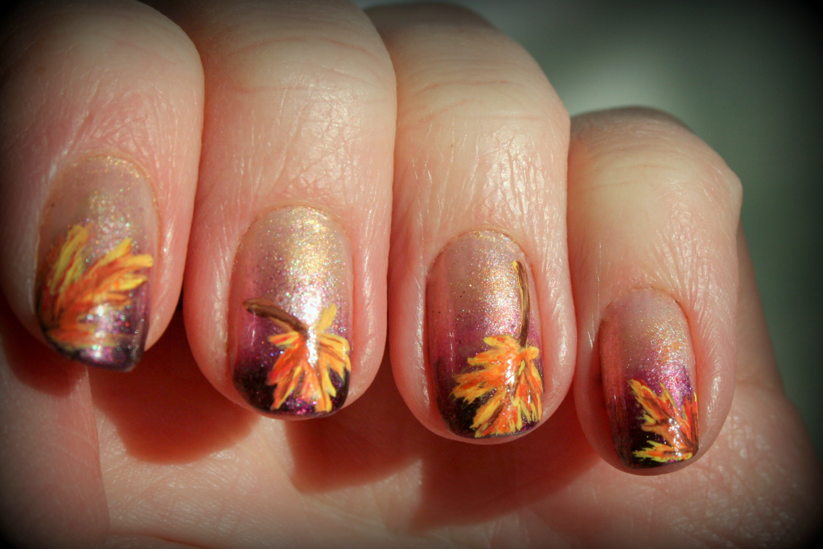 Thanksgiving nail art | stuffshalinmakes