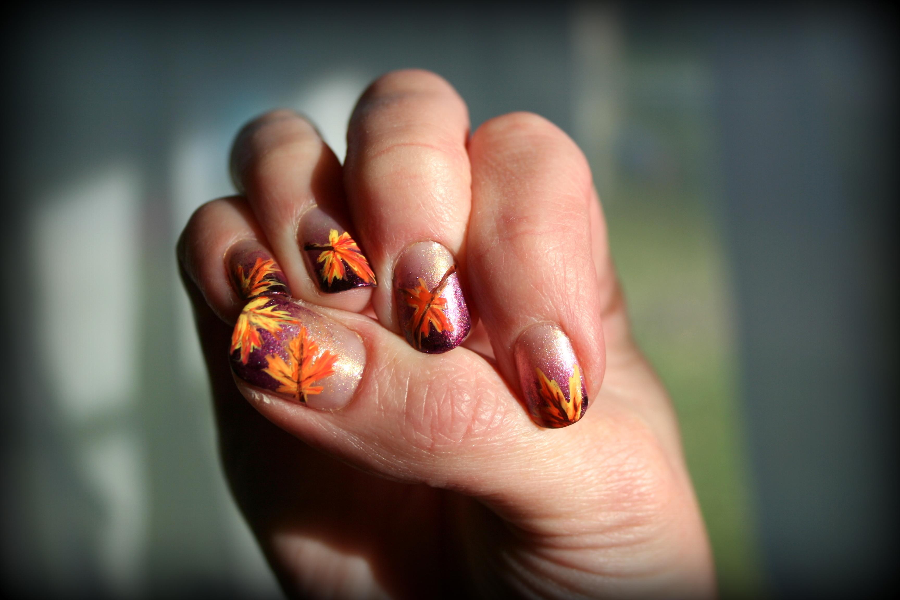 Thanksgiving Nail Art Stuffshalinmakes